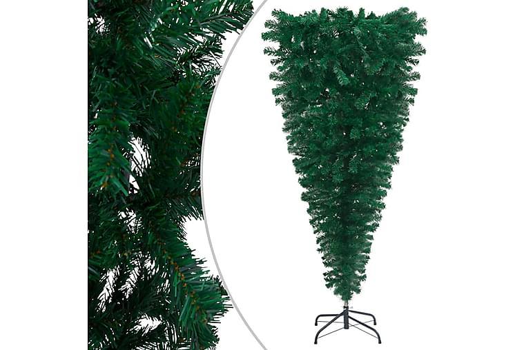 omvendt kunstigt juletræ med fod 210 cm grøn - Boligtilbehør - Dekoration - Juelpynt og juledekoration