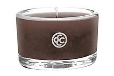 Duftlys Glas Tealight Mahogany Leather