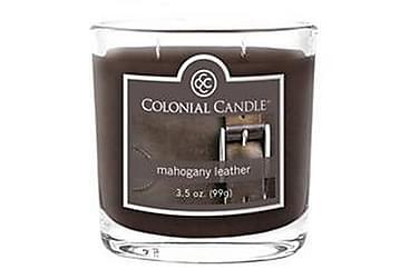 Duftlys Small Mahogany Leather