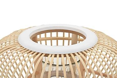Fritstående Stearinlyslanterneholder Bambus Naturfarvet