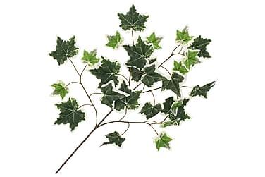 Kunstige Vedbendblade 10 Stk. 70 Cm Grøn Og Hvid