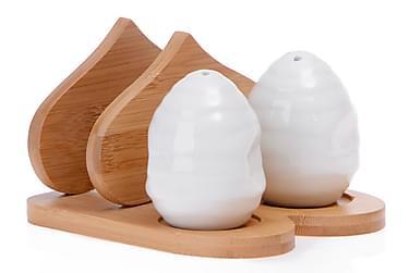 Kosova Salt og Peppar sæt Bambus / Porcelæn