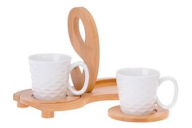 Kosova tesæt 5 stk bambus / porcelæn