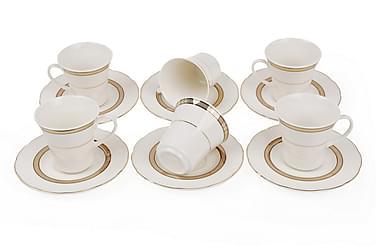 Kütahya kaffesæt 12 stks porcelæn