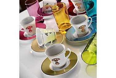 Kütahya kaffesæt 18 stks porcelæn