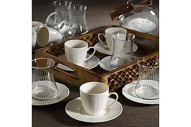 Kütahya te- og kaffeservice 18 dele porcelæn