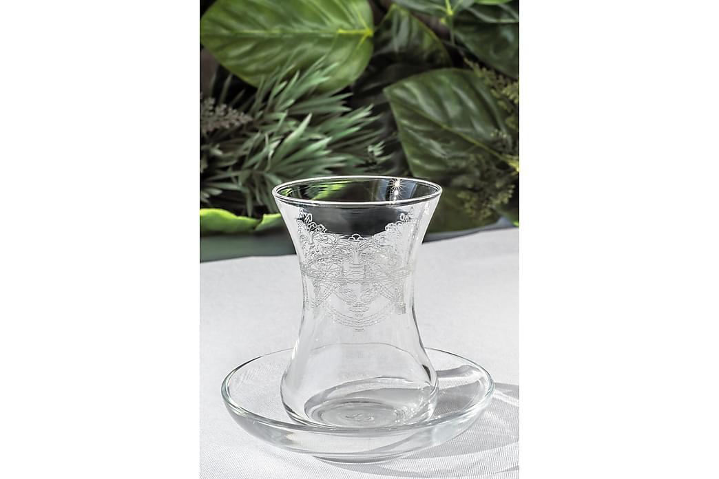 Noble Life Teservice Glas 12 Dele Glas - Hvid - Boligtilbehør - Køkkenudstyr - Kopper