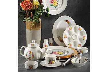 Kütahya morgenmadssæt 36 dele porcelæn