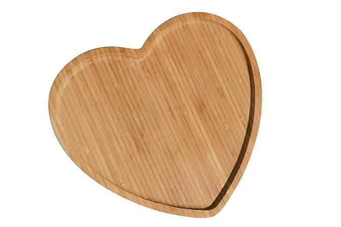 Kosova serveringsfad Hjerteform Bambus - Boligtilbehør - Køkkenudstyr - Serveringsfad