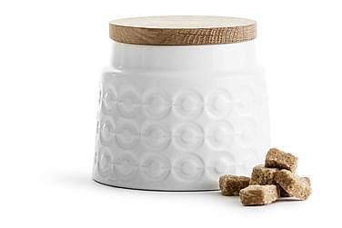 Oval oak Opbevaringsbøtte Hvid