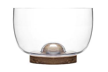 Oval oak Skål Glas