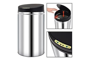 Affaldsspand Med Automatisk Sensor 42 L Rustfrit Stål