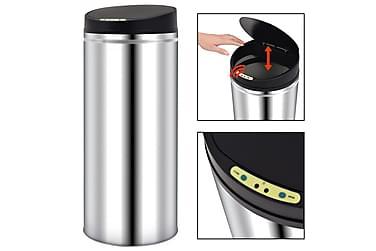 Affaldsspand Med Automatisk Sensor 62 L Rustfrit Stål