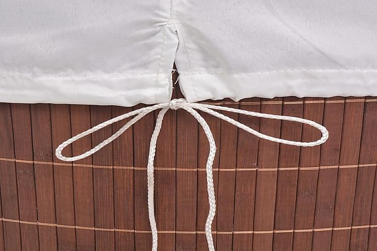 Vasketøjskurv Bambus Oval Brun - Brun - Boligtilbehør - Kurve & kasser - Vasketøjskurve