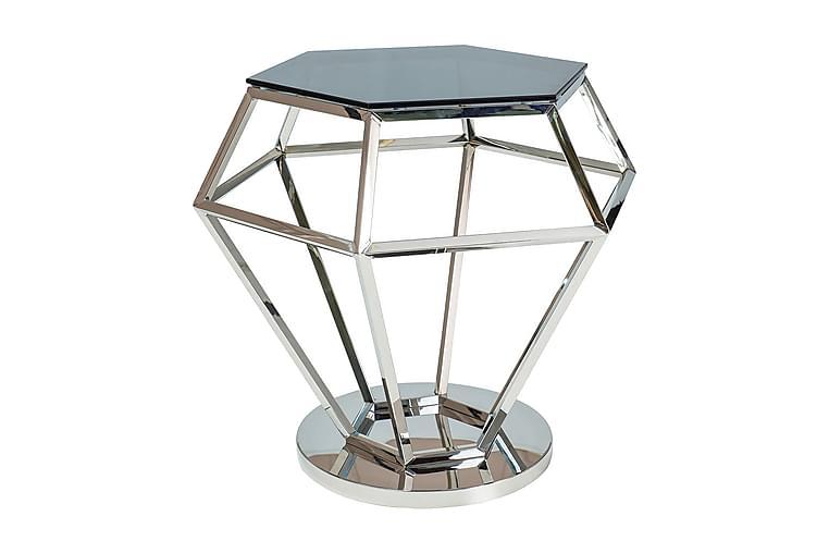 Crooble Sidebord 48 cm Hexagon - Glas/Sølv - Boligtilbehør - Små møbler - Bakkebord & små borde