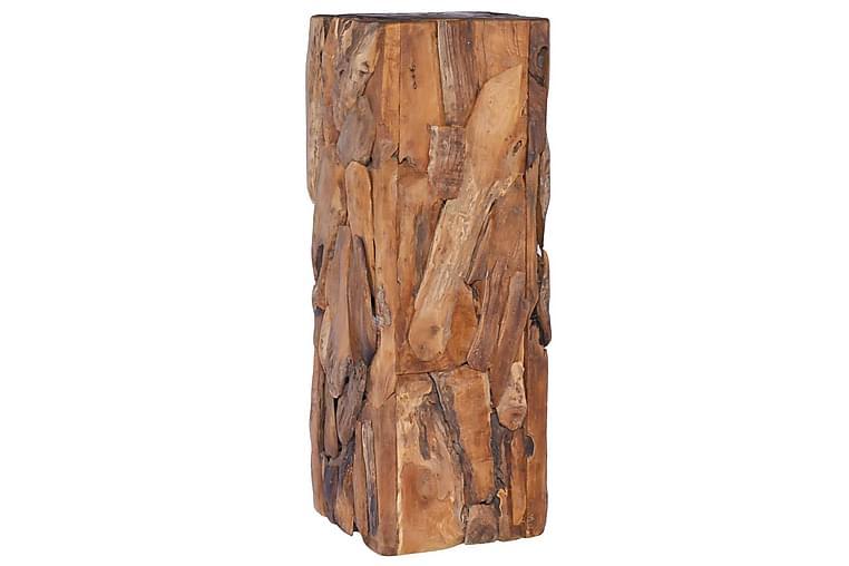 Sidebord 30x30x80 cm Massivt Teaktræ - Boligtilbehør - Små møbler - Bakkebord & små borde