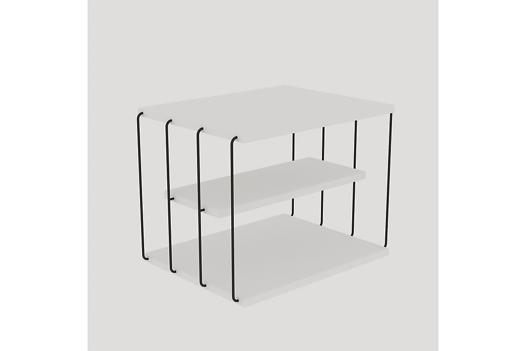 Sidebord Hvid  Sort - Boligtilbehør - Små møbler - Bakkebord & små borde