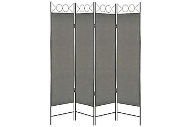 4-Panels Rumdeler 160 X 180 Cm Antracitgrå