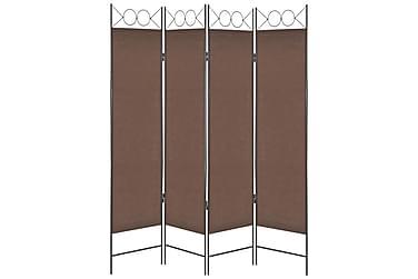 4-Panels Rumdeler 160 X 180 Cm Brun