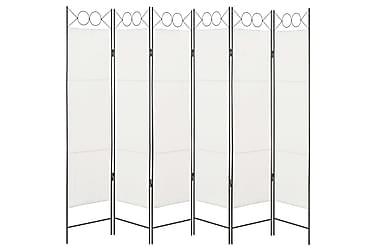 6-Panels Rumdeler 240 X 180 Cm Hvid
