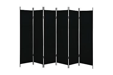 6-Panels Rumdeler 300 X 180 Cm Sort