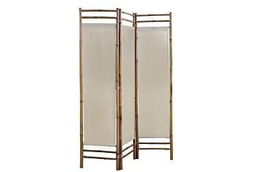 Foldbar 3-Panels Rumdeler Bambus Og Kanvas 120 Cm