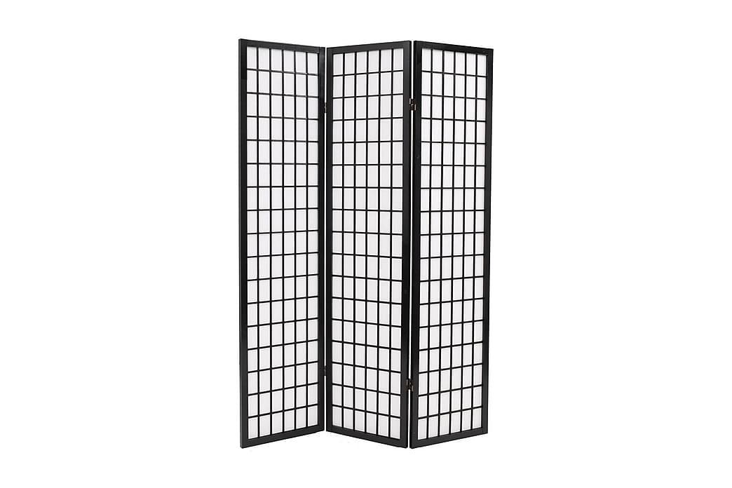 Foldbar 3-Panels Rumdeler Japansk Stil 120 X 170 Cm Sort - Sort - Boligtilbehør - Små møbler - Rumdelere