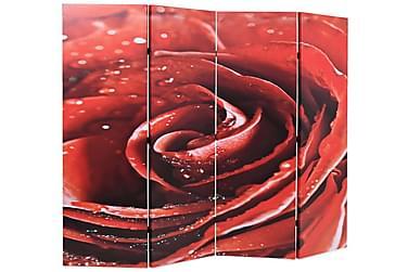 Foldbar Rumdeler 160 X 170 Cm Rose Rød