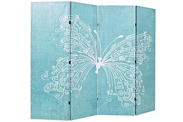 Foldbar Rumdeler 160 X 170 Cm Sommerfugl Blå