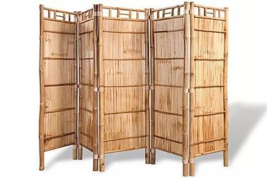 Rumdeler 5 Paneler Bambus 200 X 160 Cm