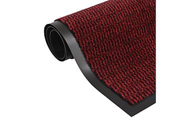 Måtte Med Støvkontrol Rektangulær Tuftet 60 X 90 Cm Rød
