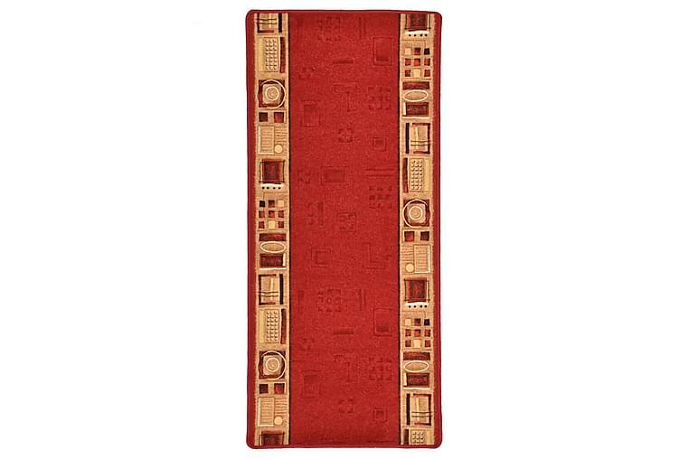 Tæppeløber 67X120 cm Gelunderside Rød - Rød - Boligtilbehør - Tæpper - Gangmåtter