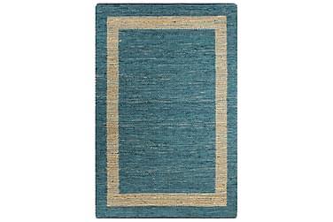 Håndlavet Tæppe Jute 120 X 180 Cm Blå