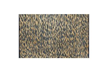 Håndlavet Tæppe Jute 120 X 180 Cm Blå Og Naturfarvet