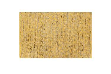 Håndlavet Tæppe Jute 120 X 180 Cm Gul Og Naturfarvet