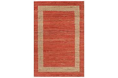 Håndlavet Tæppe Jute 120 X 180 Cm Rød