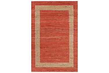 Håndlavet Tæppe Jute 160 X 230 Cm Rød