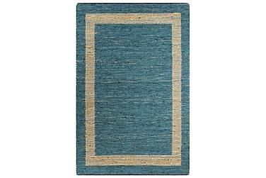 Håndlavet Tæppe Jute 80 X 160 Cm Blå