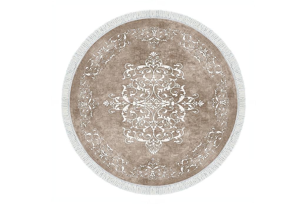 Alanur Home Tæppe 100x100 cm - Beige/Cremehvid - Boligtilbehør - Tæpper - Mønstrede tæpper