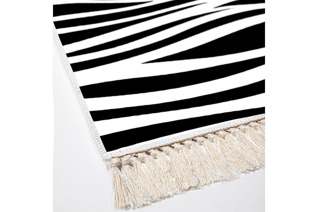 Alanur Home Tæppe 100x300 cm - Sort/Hvid - Boligtilbehør - Tæpper - Mønstrede tæpper