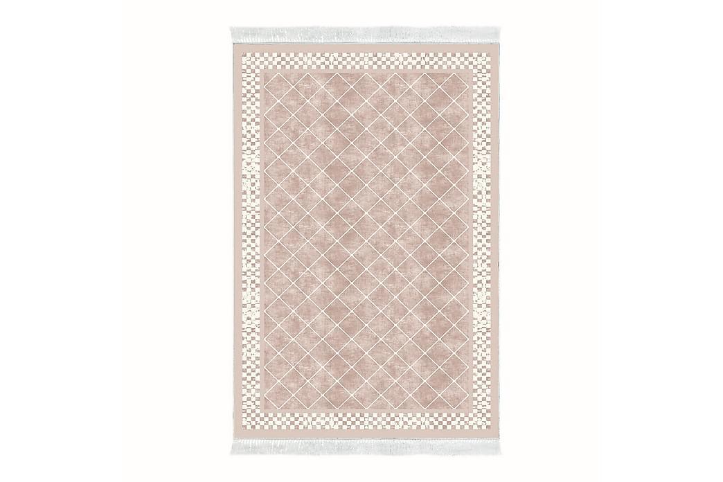 Alanur Home Tæppe 120x180 cm - Bleg lyserød/Cremehvid - Boligtilbehør - Tæpper - Mønstrede tæpper