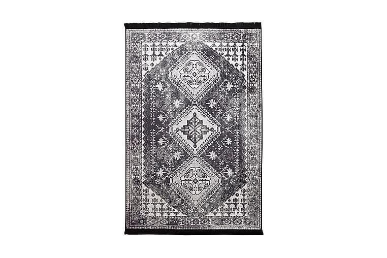 Alverdine Tæppe 120x180 cm - Sort/Velour - Boligtilbehør - Tæpper - Mønstrede tæpper