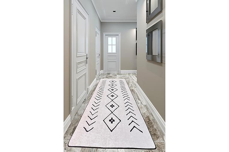 Chilai Tæppe 120x150 cm - Ecru/Sort - Boligtilbehør - Tæpper - Mønstrede tæpper