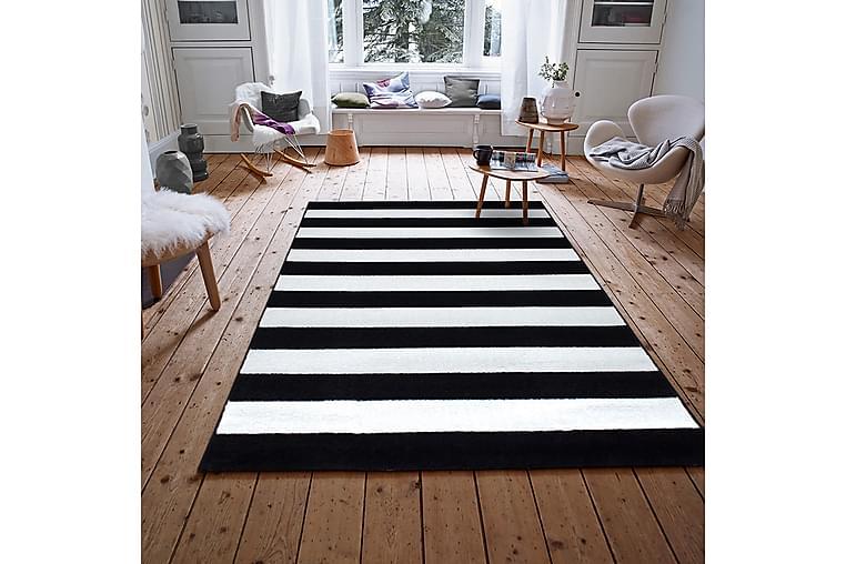 Irubhi Tæppe 120x200 cm - Sort/Cremehvid - Boligtilbehør - Tæpper - Mønstrede tæpper