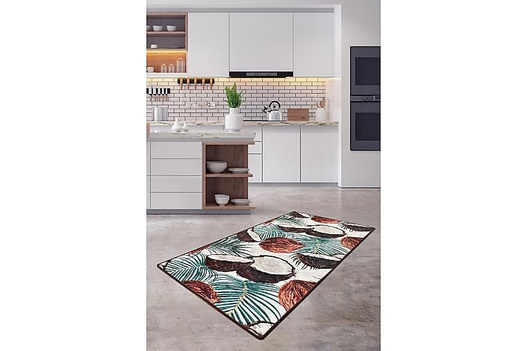 Nucifera Tæppe 120x180 cm - Flerfarvet/Velour - Boligtilbehør - Tæpper - Mønstrede tæpper