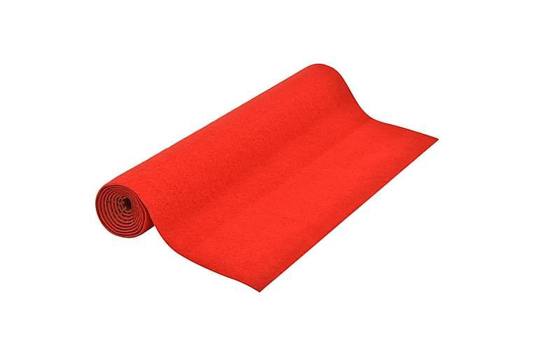 Kunstgræs Med Knopper 10x1 m Rød - Rød - Boligtilbehør - Tæpper - Nålefilt tæpper & kunstgræstæpper