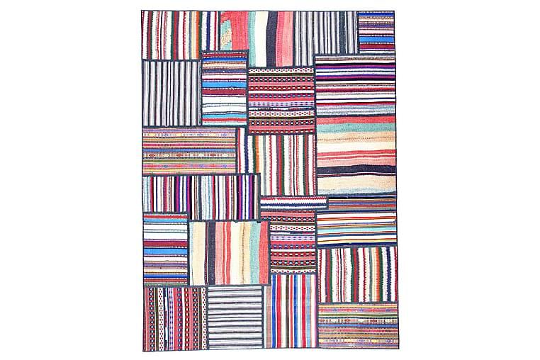 Håndknyttet Persisk lappetæppe 155x208 cm - Flerfarvet - Boligtilbehør - Tæpper - Patchwork tæppe