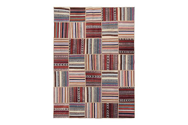 Håndknyttet persisk Patchwork Uldtæppe 147x203 cm Garn - Flerfarvet - Boligtilbehør - Tæpper - Patchwork tæppe
