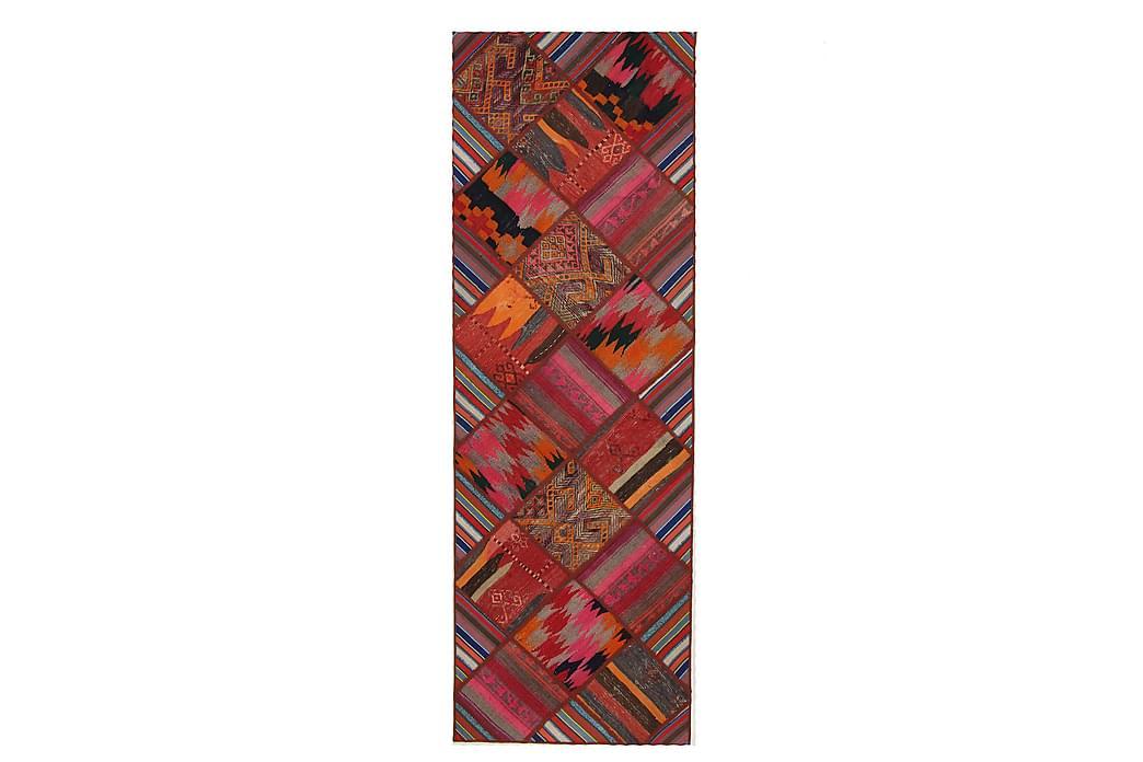 Håndknyttet persisk Patchwork Uldtæppe 83x249 cm Garn - Flerfarvet - Boligtilbehør - Tæpper - Patchwork tæppe
