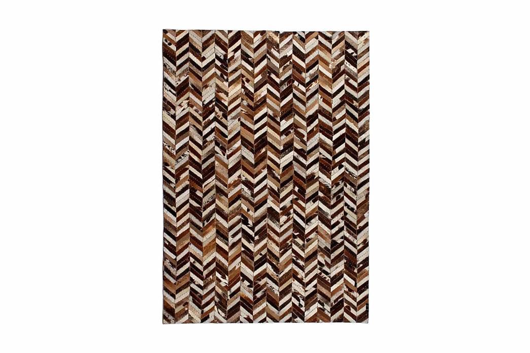 tæppe ægte kolæder patchwork 120x170 cm dobbeltvinkel - Flerfarvet - Boligtilbehør - Tæpper - Pels & skindtæpper